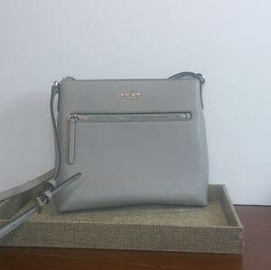 New Kate Spade stone gray cross body purse